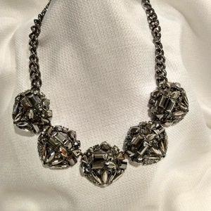 BANANA REPUBLIC Black Rhinestone Necklace